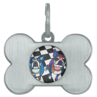 Boston Terriers by Heather Galler Pet Tags