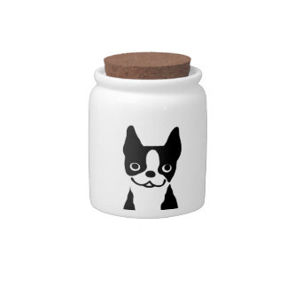 Boston Terriers - Cute Smiley Face Dogs Candy Dish