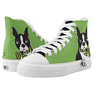 Boston Terriers Green Shoes