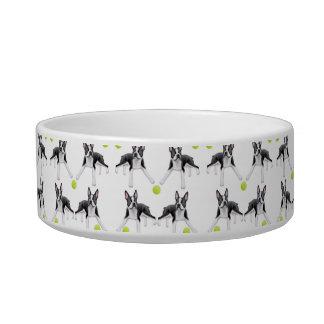 Boston Terriers Love Tennis Balls Pet Bowl Cat Water Bowl
