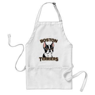 Boston Terriers Mascot Adult Apron