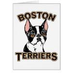 Boston Terriers Mascot Greeting Card