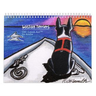 Boston Terriers Off-Leash Art™ Vol 1 Calendar