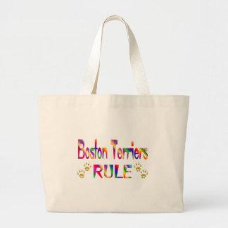 Boston Terriers Rule Tote Bags