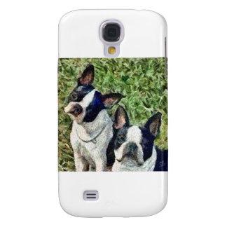 Boston Terriers - Skipper & Dee Dee Samsung Galaxy S4 Cover