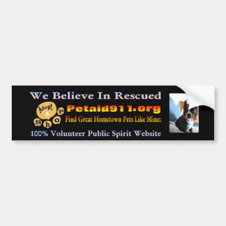 Boston Terriers Stick It! For Hometown Rescue Car Bumper Sticker