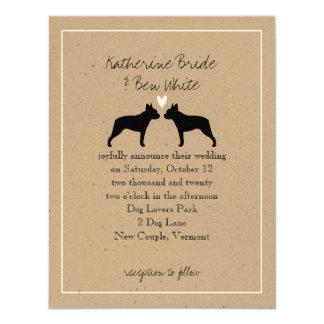 Boston Terriers Wedding Invitation