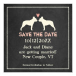 Boston Terriers Wedding Save the Date Card