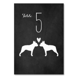 Boston Terriers Wedding Table Card