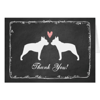 Boston Terriers Wedding Thank You Greeting Card