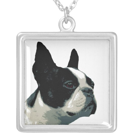 Boston Terrior Silver Plated Necklace