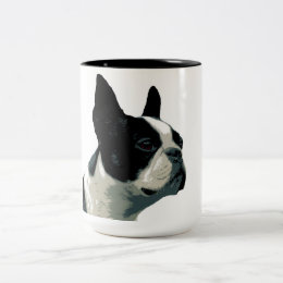 Boston Terrior Two-Tone Coffee Mug