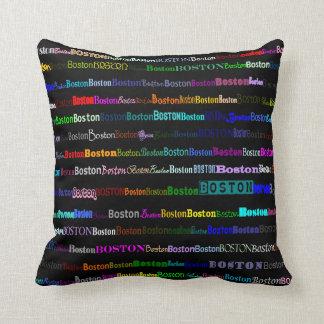 Boston Text Design I Throw Pillow