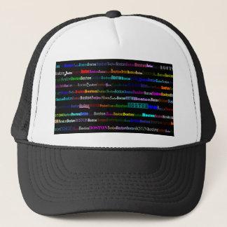Boston Text Design I Trucker Hat