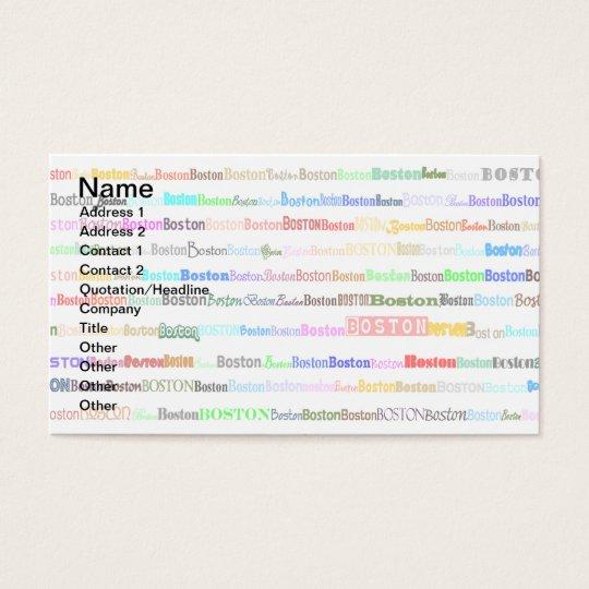 Boston Text Design II Business Card I