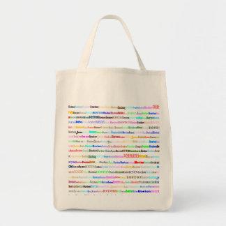 Boston Text Design II Organic Grocery Tote Bag