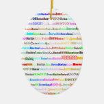 Boston Text Design II Oval Ornament