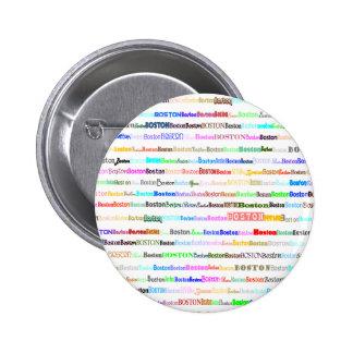 Boston Text Design II Round Button