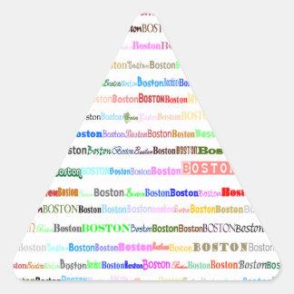 Boston Text Design II Triangle Sticker