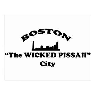 "Boston  ""The Wicked Pissah"" City Postcard"