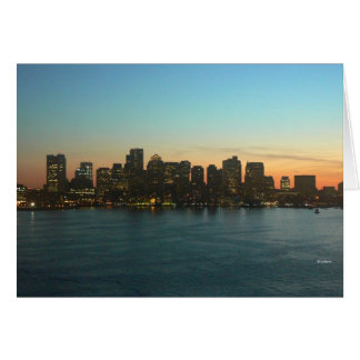 Boston --thinking of you stationery note card