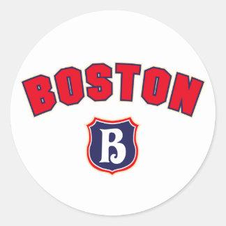 Boston Throwback Classic Round Sticker