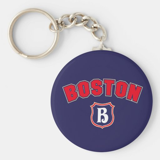 Boston Throwback Keychain