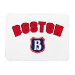 Boston Throwback Rectangular Magnets