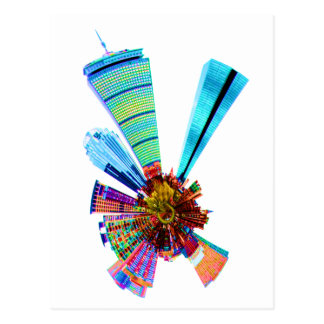 boston towers postcard
