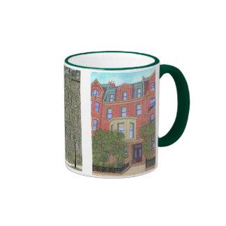 Boston Townhouses Ringer Mug