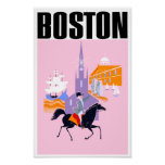 Boston travel poster