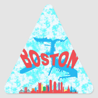Boston Triangle Sticker