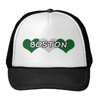 Boston Triple Hearts Trucker Hat