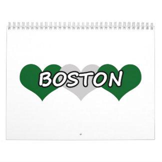 Boston Triple Hearts Calendar