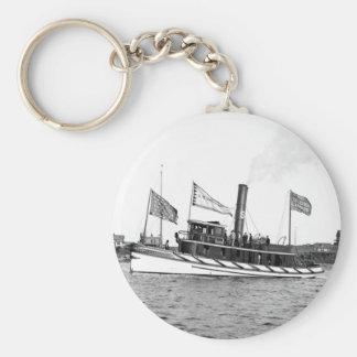 Boston Tugboat: late 1800s Keychain
