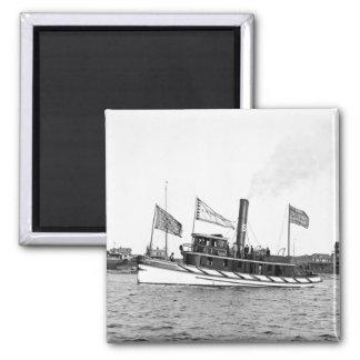 Boston Tugboat: late 1800s Magnet
