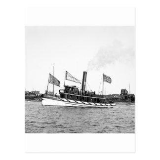 Boston Tugboat: late 1800s Postcard