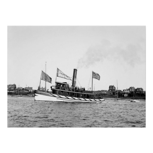 Boston Tugboat: late 1800s Poster