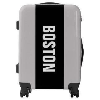 BOSTON, Typo white Luggage