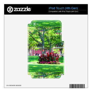 Boston USA America  Green Nature Photography Skins For iPod Touch 4G
