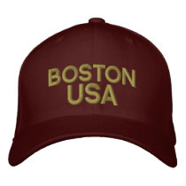 Boston USA Embroidered Baseball Cap