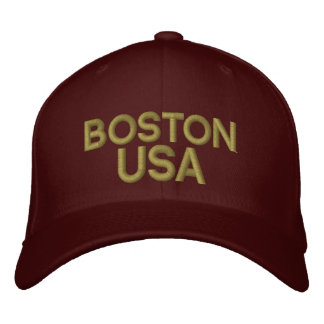 Boston USA Embroidered Baseball Cap