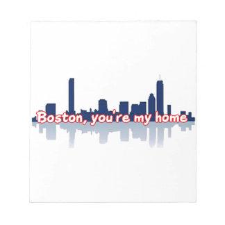 Boston usted es mi hogar libretas para notas