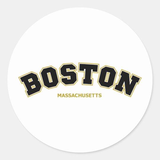 Boston Varsity Classic Round Sticker