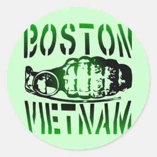 Boston Vietnam Classic Round Sticker