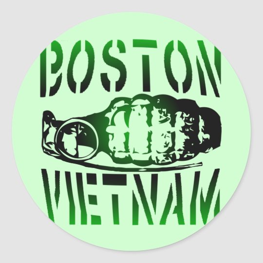 Boston Vietnam Classic Round Sticker