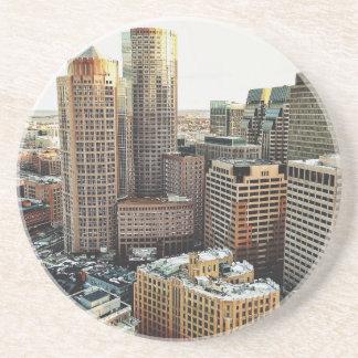 Boston view drink coaster