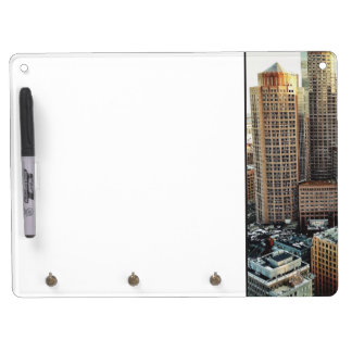 Boston view dry erase board with keychain holder