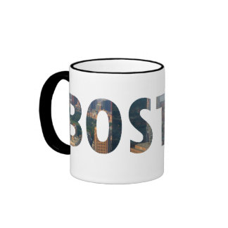 Boston view in letters. ringer mug