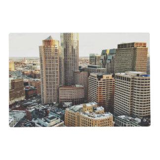Boston view laminated placemat